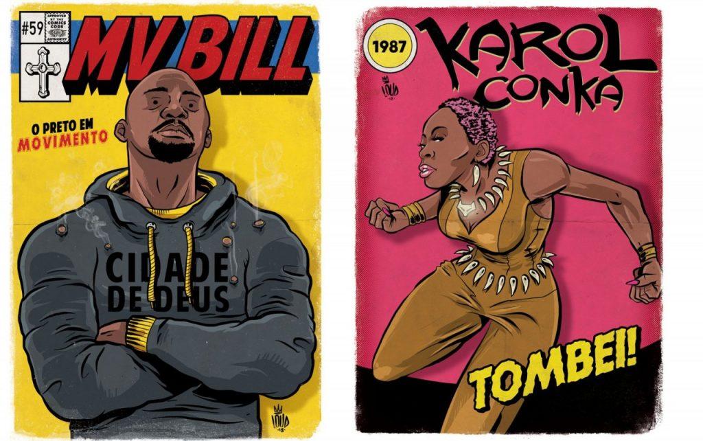 mvbill luke cage 1 1024x642 - 'Perifa Geek': rappers brasileiros viram super-heróis em quadrinhos