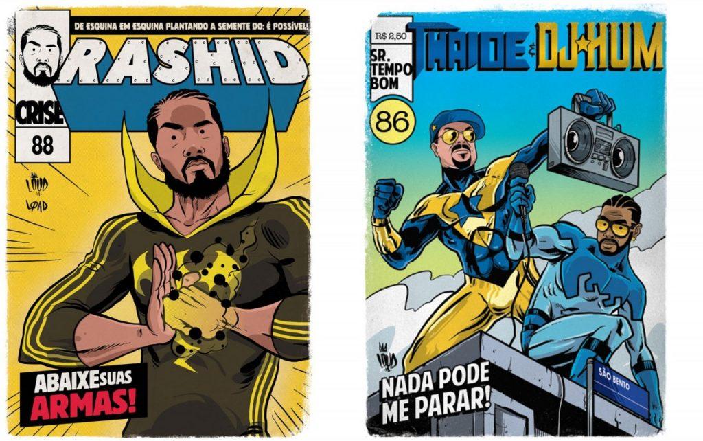 rashid punho de ferro 1 1024x642 - 'Perifa Geek': rappers brasileiros viram super-heróis em quadrinhos
