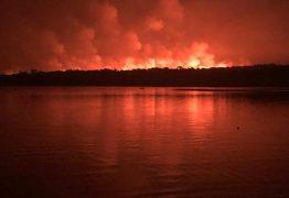 Fogo se agrava em Alter do Chão, e governador pede ajuda federal
