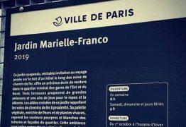 Família de Marielle vai a Paris nesta quinta para inauguração de jardim que leva nome da vereadora