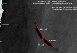 Pesquisadores detectam mancha de óleo gigantesca no litoral sul da Bahia