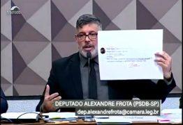 Deputado Alexandre Frota depõe na CPMI das Fake News – VEJA VÍDEO