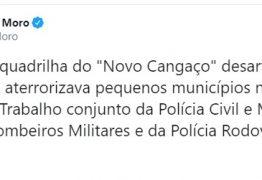 LADINOS: no Twitter, Moro destaca resultado de operação conduzida por policiais paraibanos
