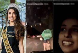 Miss perde título após vídeo caçoando entregador circular nas redes sociais