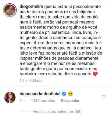 coments bianca diogo melim - Cantor Diogo, da Banda Melim, assume namoro com Bianca Andrade e faz declaração no aniversário da blogueira