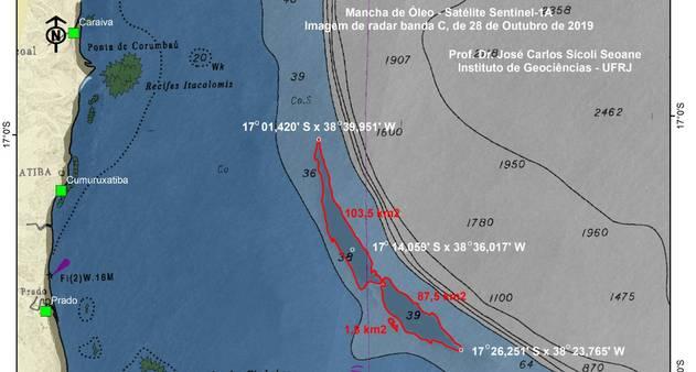 oleo bahia.jpeg - Marinha e Ibama negam que mancha gigante sobre o mar na Bahia seja de óleo
