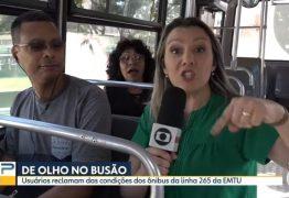 SAIA JUSTA: Passageira faz confusão e dá bronca em repórter durante ao vivo