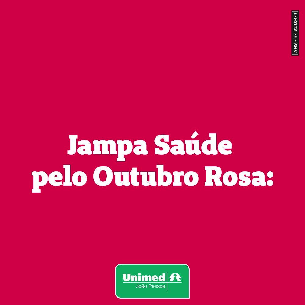 vfXlBO0DaAPRmZHZ - OUTUBRO DA PREVENÇÃO: Vista a camisa rosa e venha participar do Jampa especial