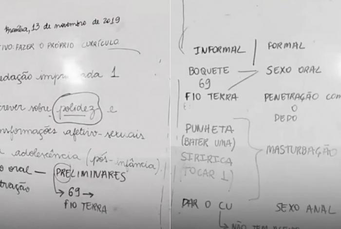 1 quadro 14333181 - Professor é afastado após propor termos sexuais em redação