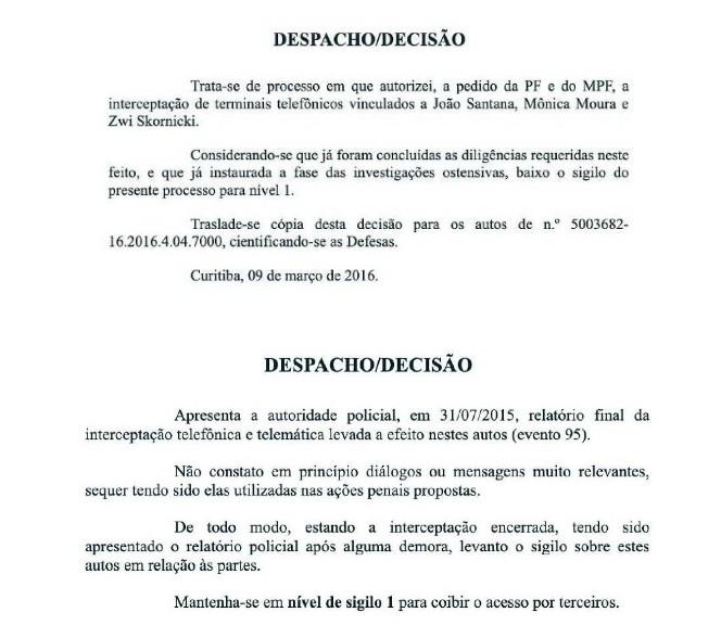 Capturar1 - PROCEDIMENTO DIFERENTE: Moro contrariou padrão da Lava Jato ao divulgar grampo de Lula, indicam mensagens