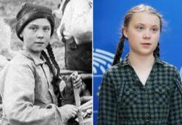 Foto de 1898 em acervo de universidade tem 'sósia' de Greta Thunberg em mina no Canadá