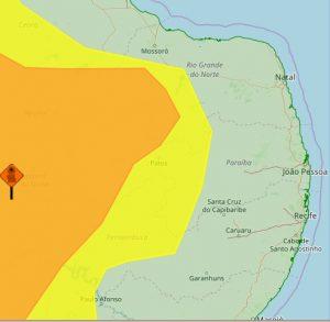 alert 300x293 - URGENTE: Paraíba recebe alerta laranja de risco de incêndio florestal; veja lista de municípios