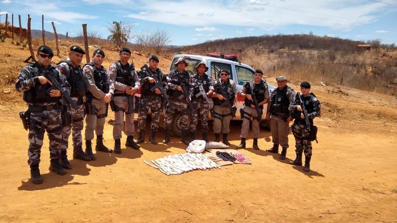 apreensao   explosivos   sertao 2 - Policiais apreendem explosivos que seriam utilizados em ataques a bancos no Sertão