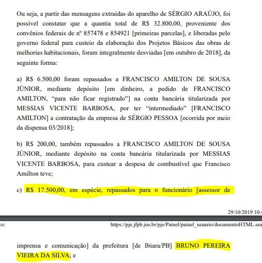 bruno pereira - EMPRESÁRIO E REPÓRTER: Operação Recidiva pediu prisão temporária de dois envolvidos em esquema, mas justiça indeferiu - ENTENDA