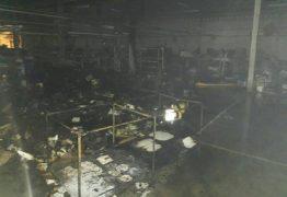 Fábrica de calçados é atingida por incêndio em Campina Grande