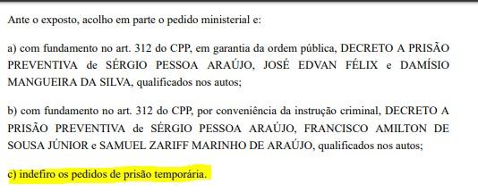 prisão tempo - EMPRESÁRIO E REPÓRTER: Operação Recidiva pediu prisão temporária de dois envolvidos em esquema, mas justiça indeferiu - ENTENDA