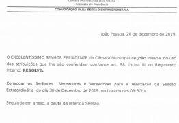 LOA será votada nesta segunda-feira durante sessão extraordinária, na CMJP