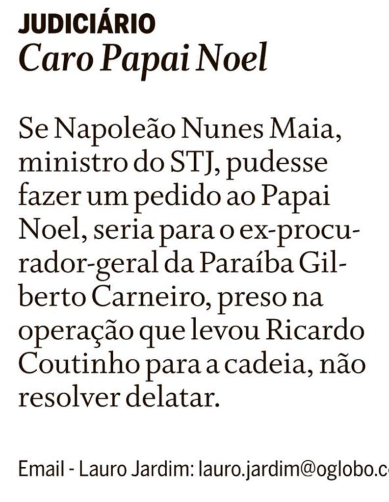 0CC7B2B0 5B1C 4172 8AD0 D161A0E18B4C - Colunista de O Globo diz que ministro do STJ teme delação de Gilberto Carneiro
