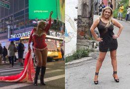 Rita Cadillac posa vestida de Mamãe Noel em NY e ainda vira estrela de clipe