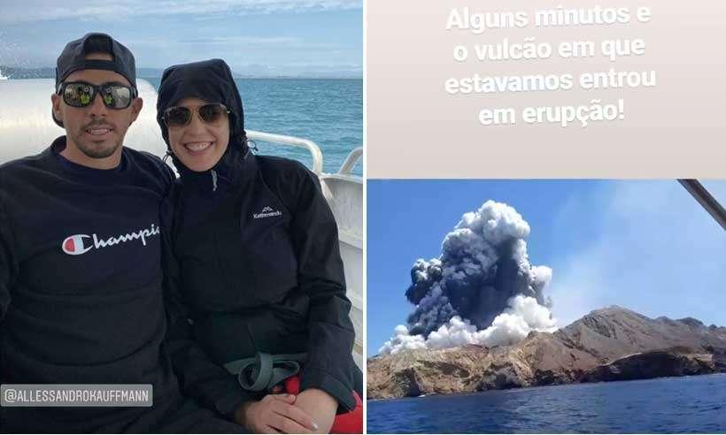 20191209084309571335a - FOI POR POUCO! Casal de brasileiros escapa de vulcão que matou ao menos 5 pessoas na Nova Zelândia