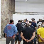 40 pesssoas foram detidas 150x150 - Churrasco com carne de cachorro e rinha: polícia resgata animais e prende militar suspeito pelo crime - IMAGENS FORTES