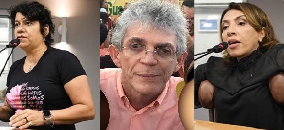 Ricardo Coutinho estela e cida 1 - MEGA OPERAÇÃO DA PF: Calvário hoje cedo na casa de Ricardo Coutinho e das deputadas Cida Ramos e Estela Bezerra