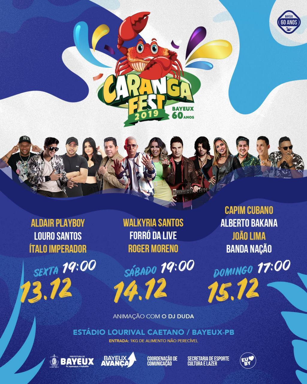 WhatsApp Image 2019 12 11 at 18.41.25 - 'Caranga Fest' terá três dias de festa e Prefeitura de Bayeux prepara grande comemoração para os 60 anos da cidade