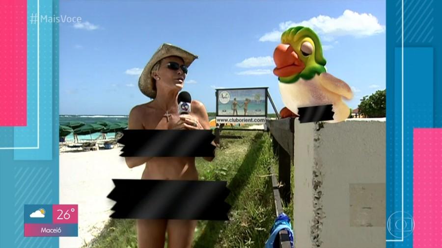 Ana Maria tira a roupa em praia de nudismo e lembra: