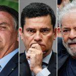 bolsonaro moro lula 150x150 - PESQUISA VEJA/FSB: se eleições presidenciais fossem hoje, Lula perderia para Bolsonaro ou Sérgio Moro no 2º turno
