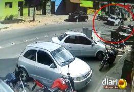 Câmeras de segurança mostram tiroteio durante tentativa de assalto na PB; VEJA VÍDEO