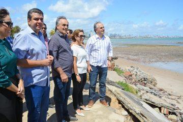 Cartaxo avalia nova etapa de obras na Barreira do Cabo Branco