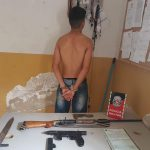 img 20191212 wa0001 150x150 - Jovem é detido por posse ilegal de arma e Polícia encontra submetralhadora e espada na residência