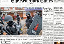 'The New York Times' denuncia Bolsonaro por incentivar volta dos esquadrões da morte