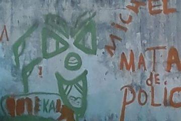 pichação 620x414 360x240 - Jovens furtam tinta da Cagepa e picham frases pró-crime em quadra municipal