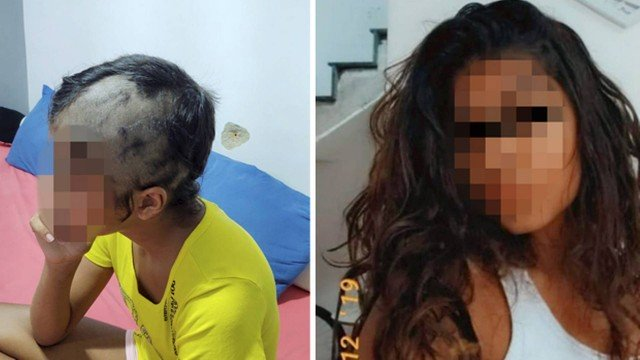 xmenina cabelo raspado.jpg.pagespeed.ic .cg71IHSpHV - Bombeiro dá socos e raspa cabelo da filha de 14 após suspeitar que ela não era mais virgem: 'Você é piranha igual sua mãe'