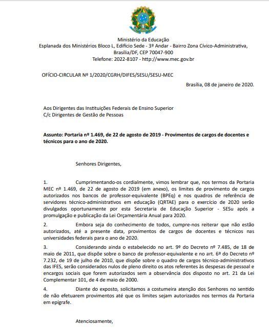 1. - 'ESTÁ ATINGINDO TODAS AS UNIVERSIDADES': Reitora diz que MEC impediu nomeação de sete professores da UFPB e centenas de servidores da UFCG