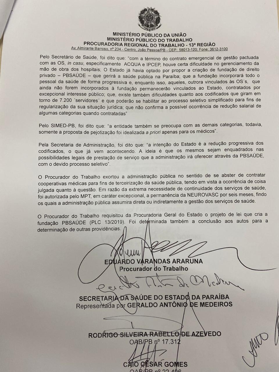 12cc9d75 3c2f 4bdb 8a58 cf97255f4f37 - DECISÃO: Governo do Estado não poderá contratar pessoas jurídicas para o Hospital de Trauma da Capital
