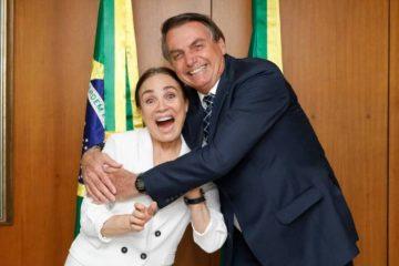Encontro com o presidente: Regina Duarte diz que decisão sobre 'casamento' não sai nesta quarta