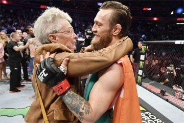 UFC: McGregor recebe carinho da avó de Cerrone após vitória em Las Vegas