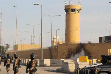 2jan2019 forcas antiterrorismo do iraque fazem a seguranca da embaixada dos eua em bagda 1578258309020 v2 900x506 360x240 - Embaixada dos Estados Unidos em Bagdá é atingida por foguete