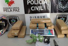Dupla é presa com 12 kg de maconha e 500 gramas de cocaína, em Campina Grande