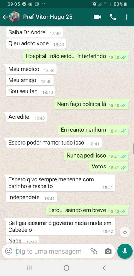 83076014 2716968345036905 4846296128775258112 o - BOMBA: ameaças e interferências vazam em conversa de Whatsapp entre prefeito de Cabedelo e ex-secretario de saúde - CONFIRA