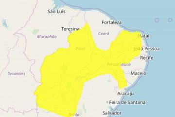 Inmet alerta para chuvas no Cariri, Seridó, Sertão, Agreste e Brejo da Paraíba