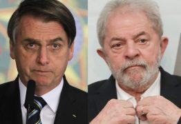 Se as eleições de 2022 fossem hoje, Bolsonaro e Lula iriam para 2º turno
