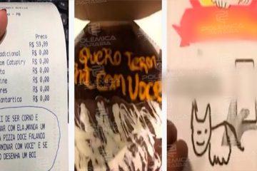 CHIFRE SABOR 'DOIS AMORES': Paraibano termina namoro com mensagem em pizza após descobrir traição e viraliza nas redes sociais – VEJA VÍDEO
