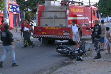 COLISÃO: Acidente envolvendo motos deixa homem em estado grave em João Pessoa