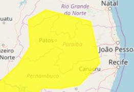 Inmet alerta para perigo potencial de baixa umidade em 142 municípios paraibanos