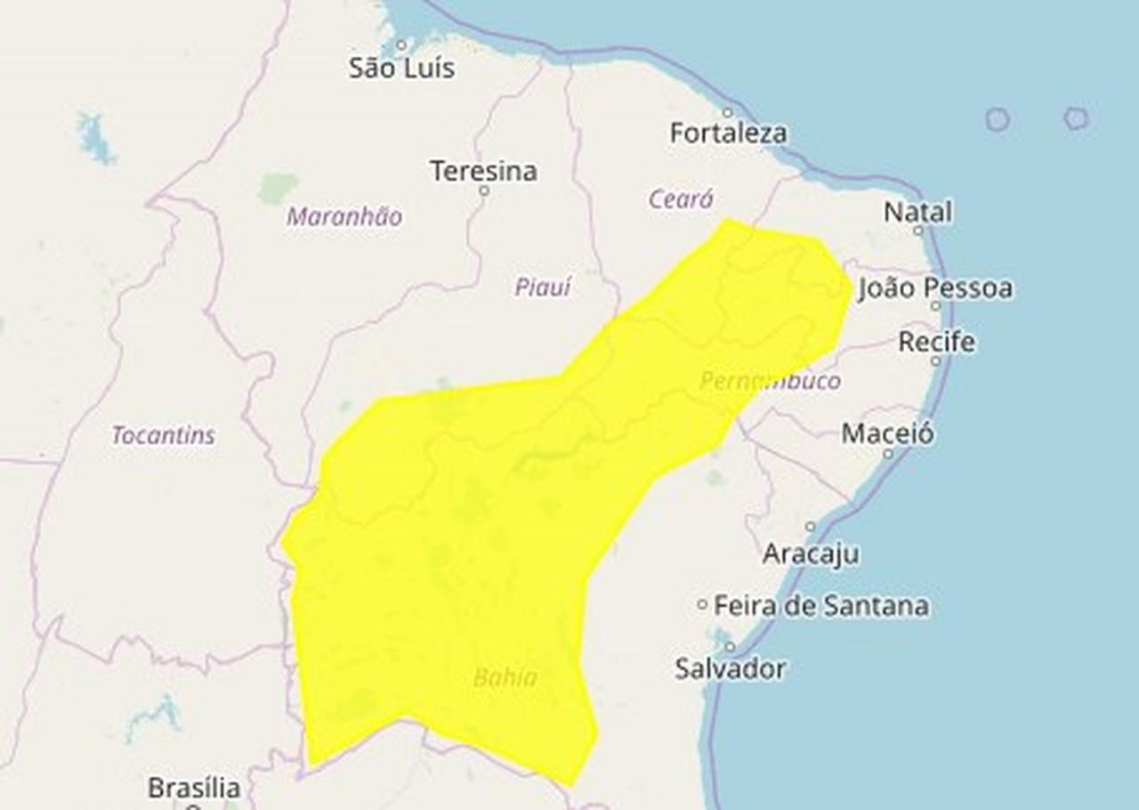 Inmet emite alerta de perigo potencial de baixa umidade para 113 municípios da Paraíba