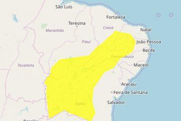 Inmet alerta para perigo potencial de baixa umidade em 113 municípios paraibanos