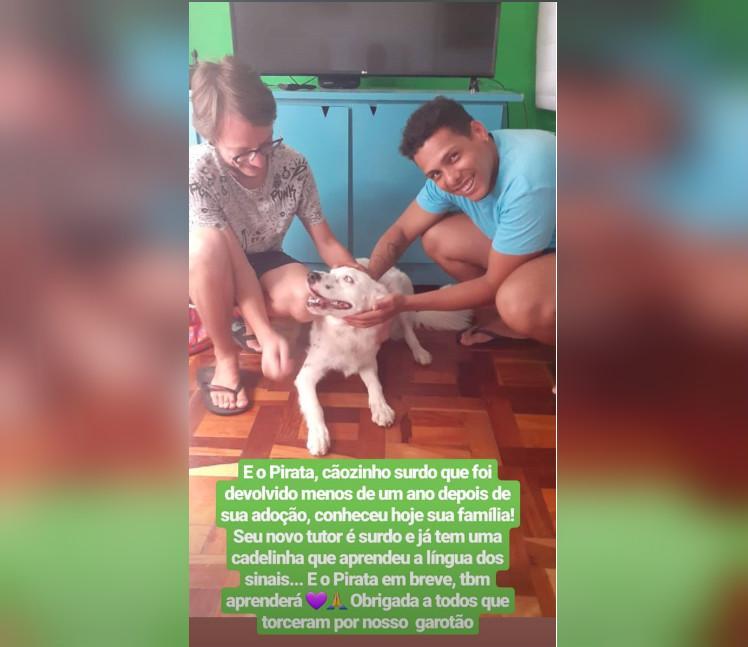 caodibea - Cachorro surdo devolvido após ser adotado é acolhido por estudante também surdo
